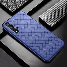 Custodia Silicone Morbida In Pelle Cover per Huawei Nova 5 Pro Blu