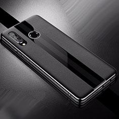 Custodia Silicone Morbida In Pelle Cover per Huawei P30 Lite Nero