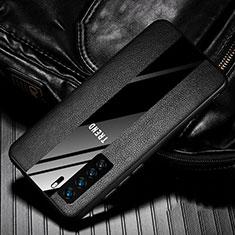 Custodia Silicone Morbida In Pelle Cover per Huawei P40 Lite 5G Nero