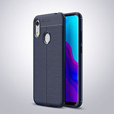 Custodia Silicone Morbida In Pelle Cover per Huawei Y6 Prime (2019) Blu