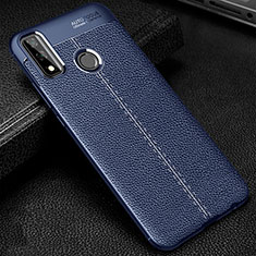 Custodia Silicone Morbida In Pelle Cover per Huawei Y8s Blu