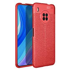 Custodia Silicone Morbida In Pelle Cover per Huawei Y9a Rosso