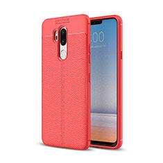 Custodia Silicone Morbida In Pelle Cover per LG G7 Rosso