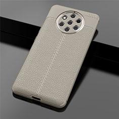 Custodia Silicone Morbida In Pelle Cover per Nokia 9 PureView Oro