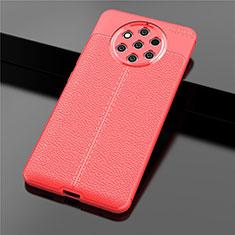 Custodia Silicone Morbida In Pelle Cover per Nokia 9 PureView Rosso