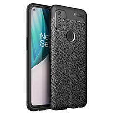 Custodia Silicone Morbida In Pelle Cover per OnePlus Nord N10 5G Nero