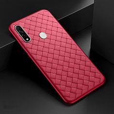 Custodia Silicone Morbida In Pelle Cover per Oppo A8 Rosso
