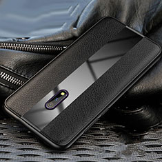 Custodia Silicone Morbida In Pelle Cover per Oppo K3 Nero