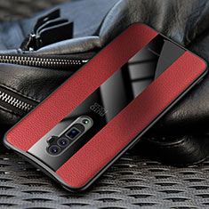 Custodia Silicone Morbida In Pelle Cover per Oppo Reno 10X Zoom Rosso