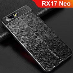 Custodia Silicone Morbida In Pelle Cover per Oppo RX17 Neo Nero