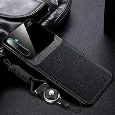Custodia Silicone Morbida In Pelle Cover per Realme X2 Nero