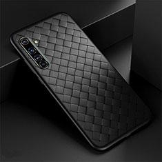 Custodia Silicone Morbida In Pelle Cover per Realme X50 Pro 5G Nero