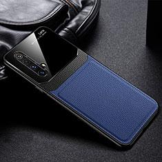 Custodia Silicone Morbida In Pelle Cover per Realme X50m 5G Blu