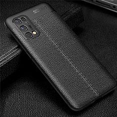 Custodia Silicone Morbida In Pelle Cover per Realme X7 Pro 5G Nero