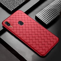 Custodia Silicone Morbida In Pelle Cover per Samsung Galaxy A30 Rosso
