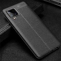 Custodia Silicone Morbida In Pelle Cover per Samsung Galaxy A42 5G Nero