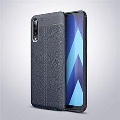 Custodia Silicone Morbida In Pelle Cover per Samsung Galaxy A50 Blu