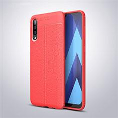 Custodia Silicone Morbida In Pelle Cover per Samsung Galaxy A50 Rosso