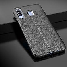 Custodia Silicone Morbida In Pelle Cover per Samsung Galaxy A60 Nero