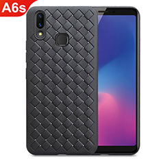 Custodia Silicone Morbida In Pelle Cover per Samsung Galaxy A6s Nero