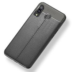 Custodia Silicone Morbida In Pelle Cover per Samsung Galaxy A8 Star Grigio