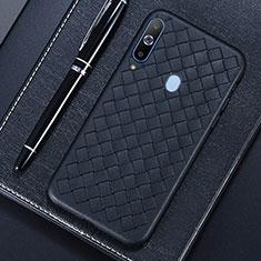Custodia Silicone Morbida In Pelle Cover per Samsung Galaxy A8s SM-G8870 Nero