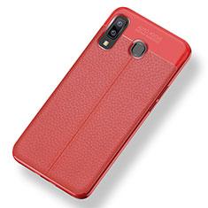 Custodia Silicone Morbida In Pelle Cover per Samsung Galaxy A9 Star SM-G8850 Rosso