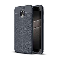 Custodia Silicone Morbida In Pelle Cover per Samsung Galaxy Amp Prime 3 Blu