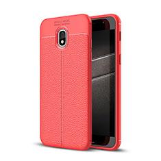 Custodia Silicone Morbida In Pelle Cover per Samsung Galaxy Amp Prime 3 Rosso