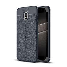 Custodia Silicone Morbida In Pelle Cover per Samsung Galaxy J3 (2018) SM-J377A Blu