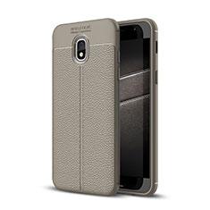 Custodia Silicone Morbida In Pelle Cover per Samsung Galaxy J3 (2018) SM-J377A Grigio
