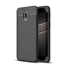 Custodia Silicone Morbida In Pelle Cover per Samsung Galaxy J3 (2018) SM-J377A Nero