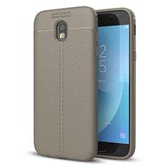Custodia Silicone Morbida In Pelle Cover per Samsung Galaxy J5 (2017) SM-J750F Grigio