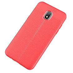Custodia Silicone Morbida In Pelle Cover per Samsung Galaxy J7 (2018) J737 Rosso