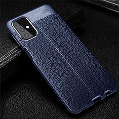 Custodia Silicone Morbida In Pelle Cover per Samsung Galaxy M31s Blu