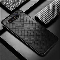 Custodia Silicone Morbida In Pelle Cover per Samsung Galaxy Note 8 Duos N950F Nero