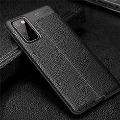 Custodia Silicone Morbida In Pelle Cover per Samsung Galaxy S20 FE 5G Nero