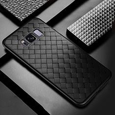 Custodia Silicone Morbida In Pelle Cover per Samsung Galaxy S8 Plus Nero