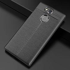 Custodia Silicone Morbida In Pelle Cover per Sony Xperia XA2 Ultra Nero