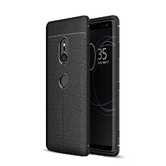 Custodia Silicone Morbida In Pelle Cover per Sony Xperia XZ3 Nero
