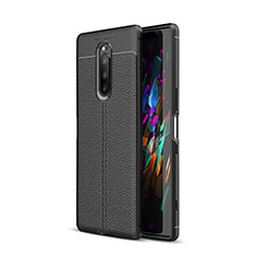 Custodia Silicone Morbida In Pelle Cover per Sony Xperia XZ4 Nero