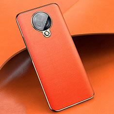 Custodia Silicone Morbida In Pelle Cover per Vivo Nex 3 5G Arancione