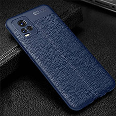 Custodia Silicone Morbida In Pelle Cover per Vivo V20 Blu