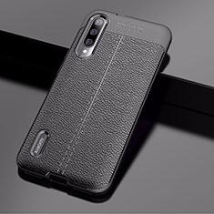 Custodia Silicone Morbida In Pelle Cover per Xiaomi CC9e Nero