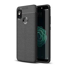 Custodia Silicone Morbida In Pelle Cover per Xiaomi Mi 6X Nero