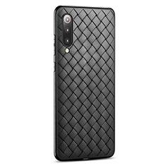 Custodia Silicone Morbida In Pelle Cover per Xiaomi Mi 9 Pro Nero