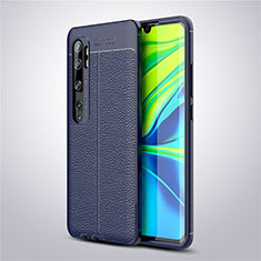 Custodia Silicone Morbida In Pelle Cover per Xiaomi Mi Note 10 Pro Blu