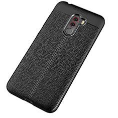 Custodia Silicone Morbida In Pelle Cover per Xiaomi Pocophone F1 Nero
