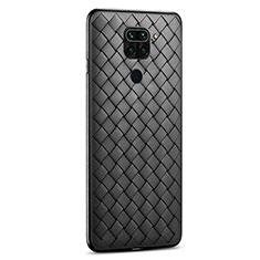 Custodia Silicone Morbida In Pelle Cover per Xiaomi Redmi 10X 4G Nero