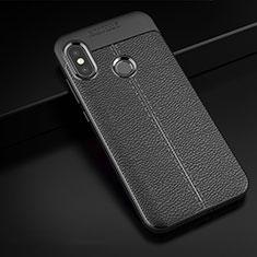 Custodia Silicone Morbida In Pelle Cover per Xiaomi Redmi 6 Pro Nero